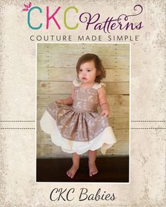 Create Kids Couture -  Babies Scalloped Dress I HAVE THIS ONE