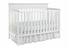 Graco Lauren Classic Crib, White by LaJobi. $175.49. JPMA, ASTM and CPSC safety certified. Three-position mattress height adjustment. Crib converts to a toddler bed (no guard rail needed for conversion), daybed and full-size headboard (bed frame and mattress not included). Five-year limited warranty against manufacturer's defects. Stationary sides. From the Manufacturer                Durable, versatile and beautiful, the graco Lauren 4-in-1 convertible crib is certifi...