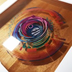 Painting Layered Resin and Acrylic Paint – Epoxy resin art - Sunset painting - Epoxy Resin Art, Acrylic Resin, Acrylic Pouring, Acrylic Art, Resin Furniture, Resin Tutorial, Deco Originale, 3d Painting, Resin Paintings