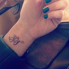 wrist tattoos initials