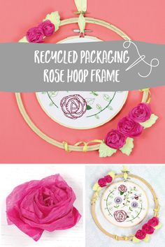 Recycle your Hawthorn Handmade packaging and use it to create beautiful embroidery hoop frames in which you can to display your stitched art! Embroidery Kits, Floral Embroidery, Repurpose, Needle Felting, Hoop, Recycling, Frames, Weaving, Packaging