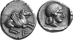 G521 A Rare and Exceptional Greek Silver Drachm of Anaktorion (Akarnania), the Finest Known Example of this Issue   by Ancient Art