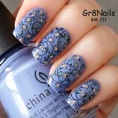 Nail stamping with Bundle Monster's Secret Garden collection #BM711 #SecretGarden #BundleMonster