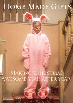 True for all you Christmas crafters. Make someone this happy with a homemade gift for Christmas!