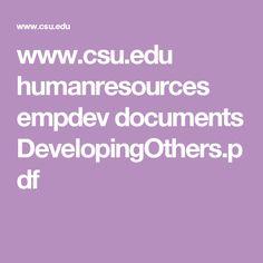 edu humanresources empdev documents DevelopingOthers. Reflection, Self