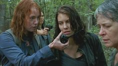 The Walking Dead Season 6 Episode 13 'The Same Boat' Carol Peletier and Maggie Greene