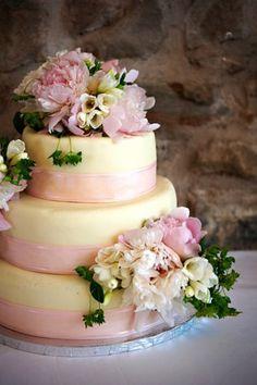 Wedding, Cake, Pink, Peony, Cory pattinson- pattinson studio - Project Wedding