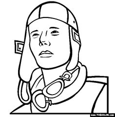 charles lindbergh coloring page aviator