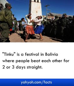 Tinku Is A Festival In Bolivia Where People Beat Each Other For 2 Or 3 Days Straight