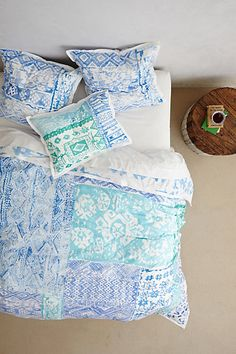 kassita duvet. i love this style and these colors, especially for a fresh, clean guest room. even better for a beachy area