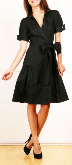 Diane Von Furtenberg Black Dress
