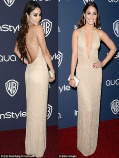 Vanessa Hudgens at the InStyle and Warner Bros.Golden Globes afterparty 2014