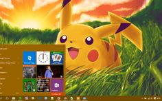 Pikachu Theme Desktop