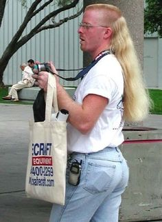 Business in the front, party in the back. The future of grantsville if this mullet epidemic continues