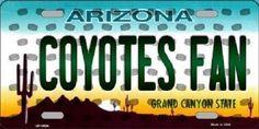 Novelty License Plates, Cardinals, Arizona, Metal