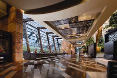 Aria Hotel Las Vegas main lobby.