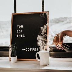 May your caffeinated beverage of choice cheer you on this morning. : @s.k.coffee @brennakjellberg #WriterOak