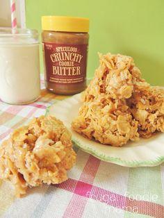 Cookie Butter Haystack Cookie- recipe on thefrugalfoodiemama.com #cookiebutter #haystacks #nobake