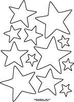 random stars pattern to color - Shape Pictures To Colour