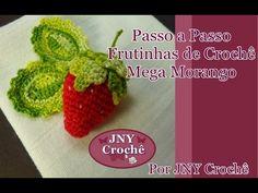 Passo a Passo Frutinhas de Crochê Mega Morango 3D por JNY Crochê