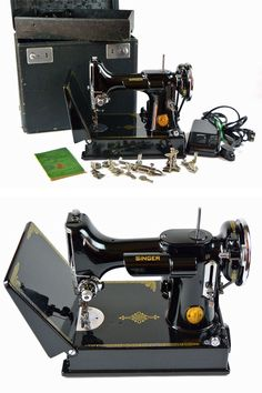 Vintage 1939 Singer FEATHERWEIGHT 221 Sewing by ScarlettsVault,