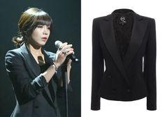 "Jung Eun-Ji in ""Trot Lovers"" Episode 5.  McQ Alexander McQueen Double Breasted Satin Tuxedo Jacket #Kdrama #TrotLovers #트로트의연인 #JungEunJi #정은지"