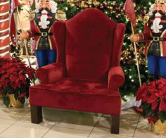 Wing Back Santa Chair