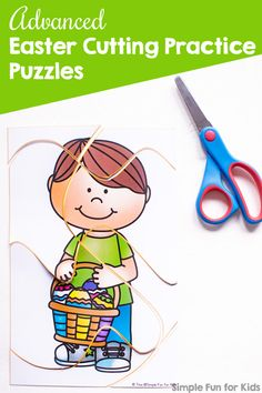 My kindergartener is really good at cutting but these advanced cutting lines were a challenge even for her! These cute printable Easter Cutting Practice Puzzles provide both challenging cutting practice and a fairly challenging puzzle! Fun Activities For Preschoolers, Fine Motor Activities For Kids, Printable Activities For Kids, Sensory Activities, Kindergarten Activities, Infant Activities, Preschool Ideas, Play Based Learning, Fun Learning