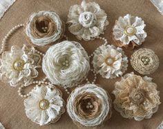 6 arpillera y encaje rosa velas de té votivas boda despedida