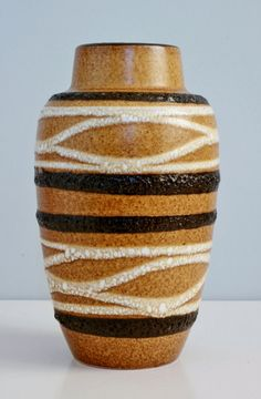 West Germany Scheurich vase number 549-21 door LilacstreetVintage