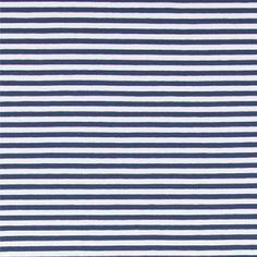 Jersey m/5mm Streifen Dunkelblau/Off-Whi