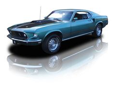 1969 Ford Mustang Mach 1 390 V8 4 Speed. Source: RK Motors Charlotte. Isn't she beautiful? :')