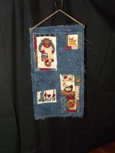 Raw Edge Wall Hanging by UniqueGrandma on Etsy, $10.00