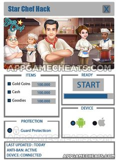 Star Chef Hack & Cheats for Gold Coins, Cash, & Goodies  #Simulation #StarChef #Strategy http://appgamecheats.com/star-chef-hack-cheats/