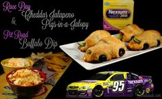 Race Day Cheddar Jalapeno Pigs-in-a-Jalopy & Pit Road Buffalo Dip #RaceDayRelief #CollectiveBias #ad