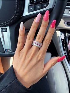 Acrylic Nails Coffin Short, Simple Acrylic Nails, Square Acrylic Nails, Summer Acrylic Nails, Pastel Nails, Best Acrylic Nails, Coffin Nails, Summer Nails, Spring Nails