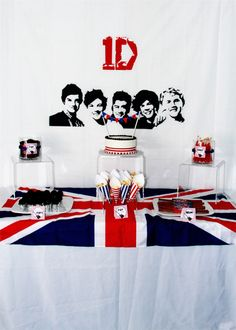 1Direction Kids Party - this sweets table (and the whole party) is sure to please the biggest #1D fans!