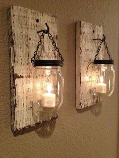 Wood Craft Ideas   Using dads barn wood