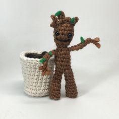 Rocket Raccoon and Free Baby Groot Crochet doll Amigurumi