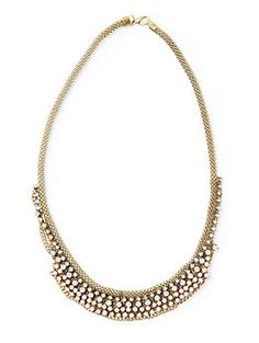 Sabine Chain and Rhinestone Necklace   $38 // missed it