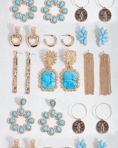 Blue Earrings, Statement Earrings, Sterling Silver Earrings, Drop Earrings, Fashion Earrings, Fashion Jewelry, Lovisa Jewellery, Bridesmaid Jewelry, Hair Jewelry