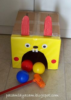 Super Indoor Party Games For Kids Hands Ideas Indoor Party Games, Kids Party Games, Diy Games, Games For Toddlers, Golf Games For Kids, Gross Motor Activities, Indoor Activities, Infant Activities, Preschool Activities