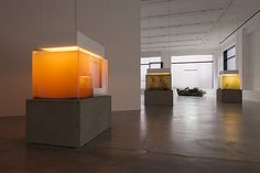 """An installation view of the exhibition """"Pierre Huyghe. IN. BORDER. DEEP."""" at…"""