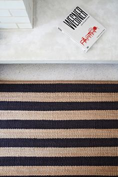 Nest Weave - Awning Stripe Charcoal | Armadillo&Co