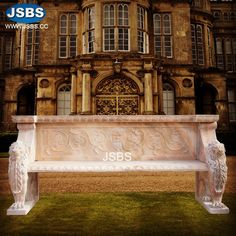 outdoor marble lion bench   www.jsbluesea.com info@jsbluesea.com whatsapp|wechat:0086-13633118189 #outdoordecor #stonebench #marblebench #outdoorbench #exteriordecor #homedecor #interiordecoration #jsbsfireplace #jsbsmarble #jsbsstone Marble Columns, Stone Columns, Marble Fireplaces, Fireplace Mantels, Stone Fountains, Stone Bench, Stone Veneer, Gazebo, Lion