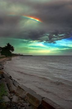 Landscape And Nature Beautiful Sky, Beautiful Landscapes, Beautiful World, Beautiful Places, Rainbow After The Rain, Rainbow Sky, Rainbow Beach, All Nature, Amazing Nature