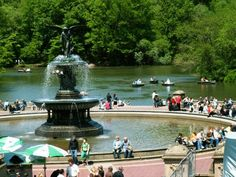 Bethesda Fountain in Central Park  to spend an afternoon reading in Central Park...  #AerieFNO