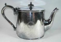 Highland Railway - Scotland - 1890's - Side Logo Orante Railroad Silver Teapot