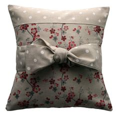 Handmake Pillows | Handmade pillow cover Country chic bow di kushinihome