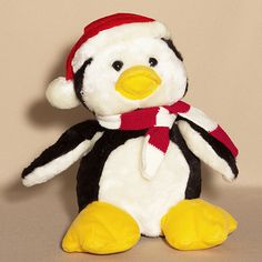 Rappin Penguin Plush Musical, Cuddly and soft is this siting plush penguin wearing a red and white scarf with a red and white hat. Polar Bear Christmas, First Christmas, Santa's Nice List, Gourmet Gift Baskets, Small Cards, Christmas Design, Christmas Presents, Special Gifts, Penguins